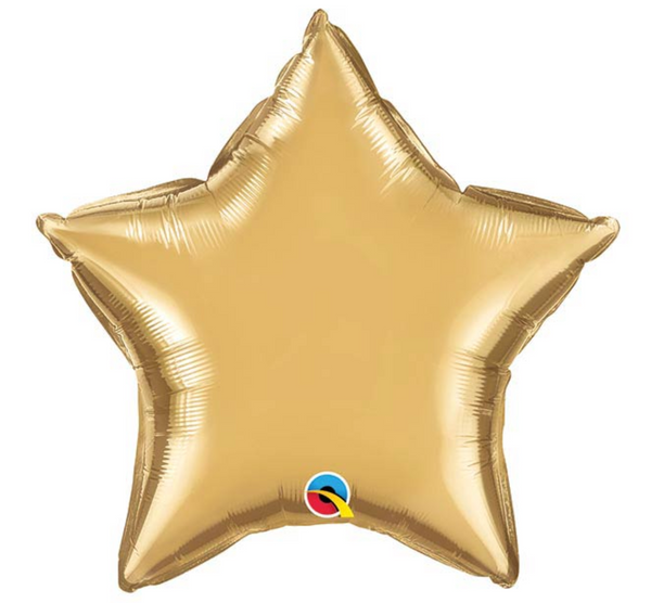 "Mylar Balloon: 20"" Gold Star"