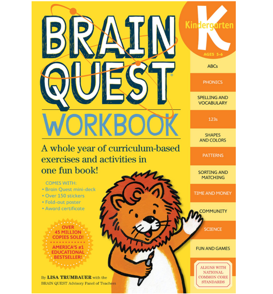 Brainquest Workbook: Kindergarten