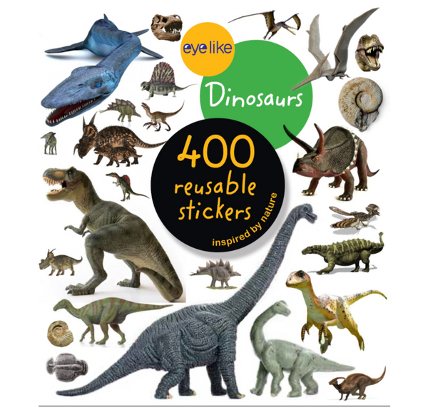 Eyelike Reusable Stickers: Dinosaurs