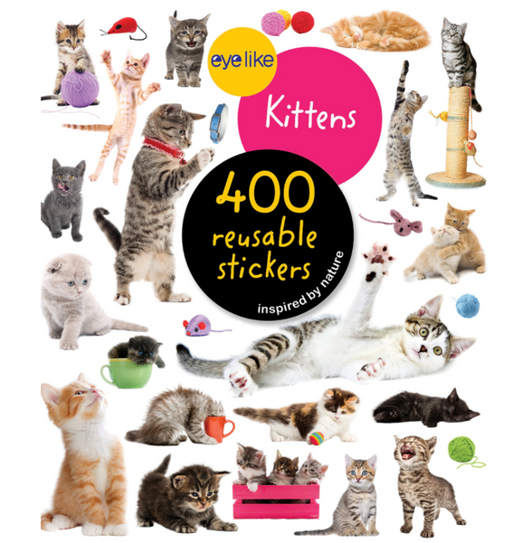 Eyelike Reusable Stickers: Kittens