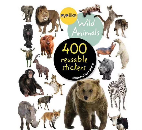 Eyelike Reusable Stickers: Wild Animals