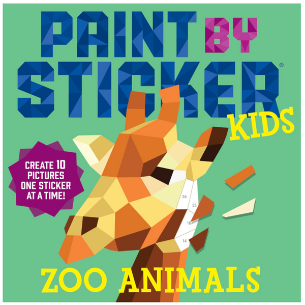 Paint By Stickers: Zoo Animals