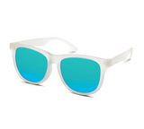 Polarized Hipster Wayfarer: Frost w/ Blue Mirror Lens (Size 3-6 years)