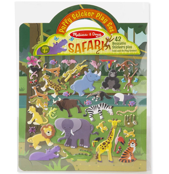 Puffy Reusable Sticker Play Set: Safari
