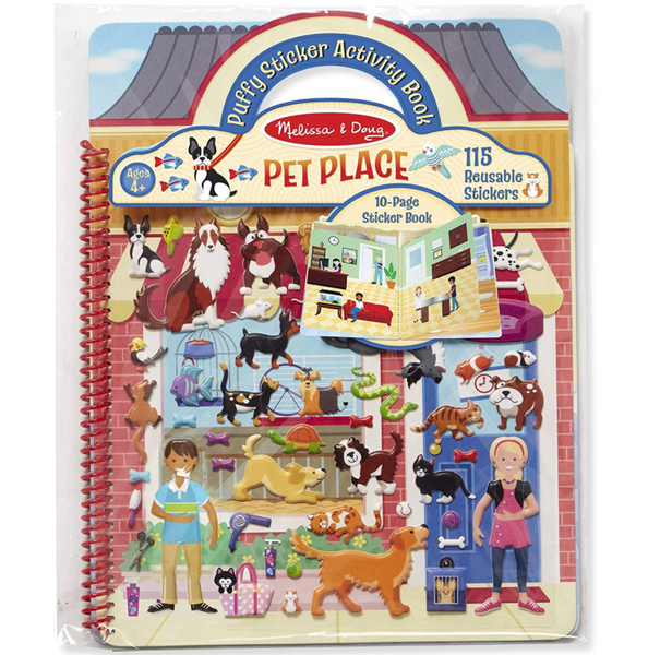 Puffy Reusable Sticker Play Set: Pet Palace