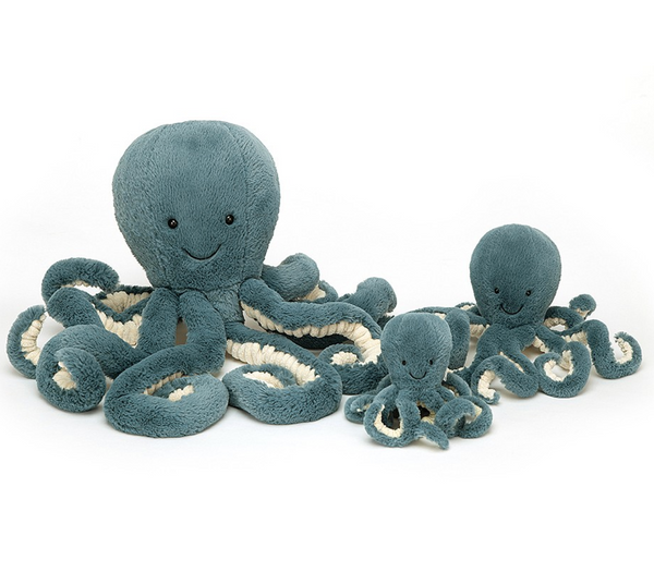 Octopus Stormy Plush, Multiple Sizes