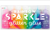 Rainbow Sparkle Glitter Glue, Set of 6