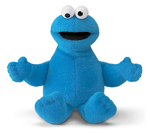 "Cookie Monster, 7"" Beanbag Plush"