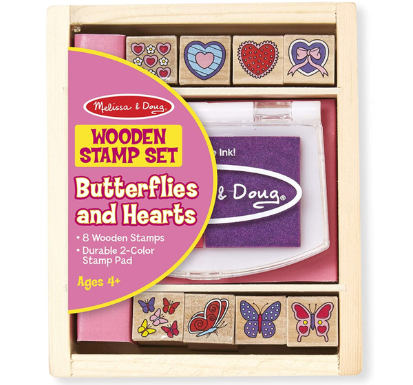 Butterfly & Hearts Wooden Stamp Kit