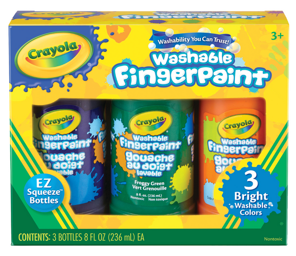Washable Fingerpaints Bright, Set of 3