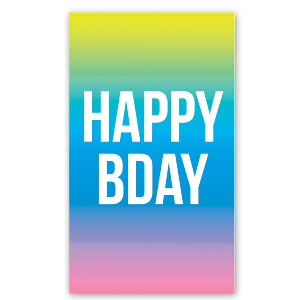 Mini Card: Gradient Birthday