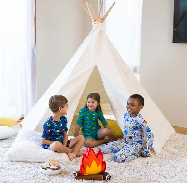 7' Children's Cotton Canvas Teepee Tent