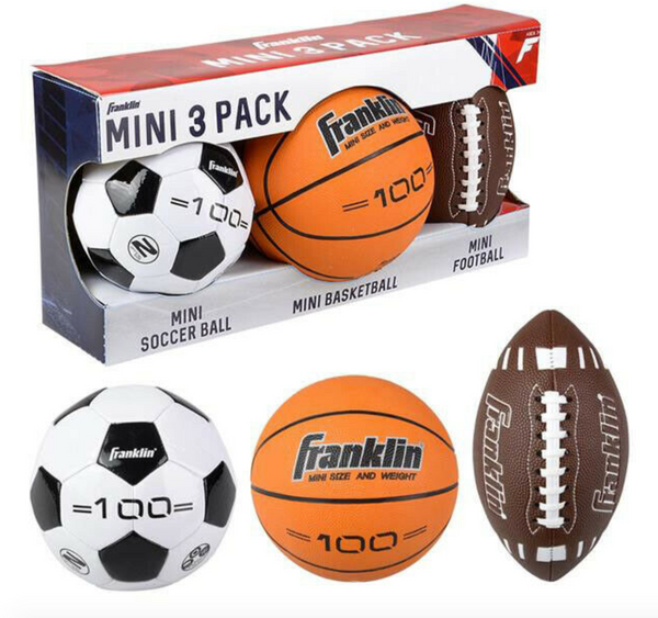 3 Mini Sports Ball Set