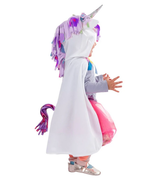 White Unicorn Cape (Size 1-2)
