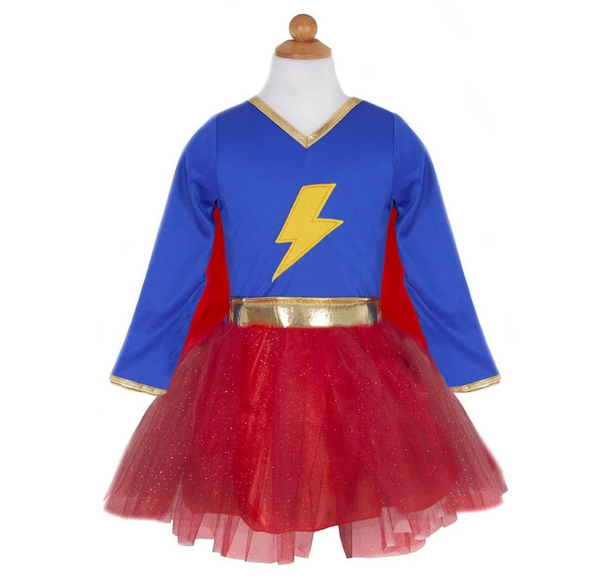 Lightning Quick Adventure Tutu Dress with Cape (Size 5-6)