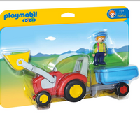Playmobil 1-2-3: Tractor with Trailer
