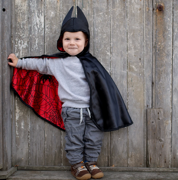 Reversible Spiderman/Batman Cape (Multiple Sizes)