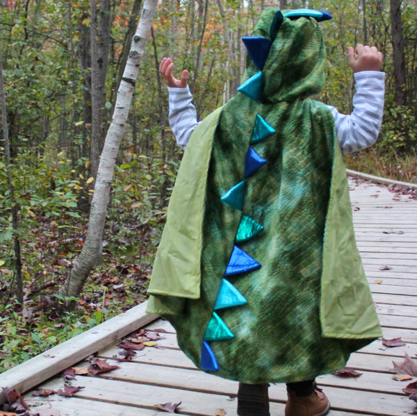 Green Dragon Cape with Claws (Size 4-6)