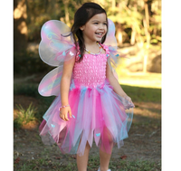 Butterfly Dress with Wings & Wand (Size 4-6)