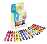 My First Washable Tripod Grip Crayons, Set of 16