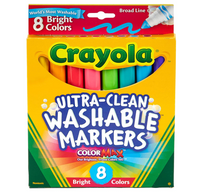 Washable Bright Markers, Set of 8