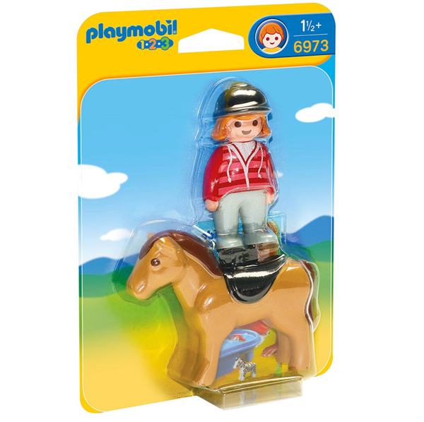 Playmobil 1-2-3: Equestrian with Horse