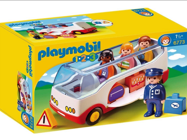 Playmobil 1-2-3: Airport Shuttle Bus