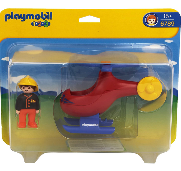 Playmobil 1-2-3: Fire Rescue Helicopter