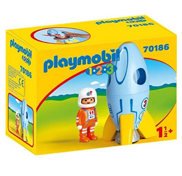 Playmobil 1-2-3: Astronaut with Rocket