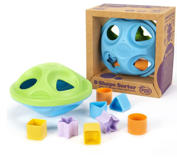 Shape Sorter, Green/Blue