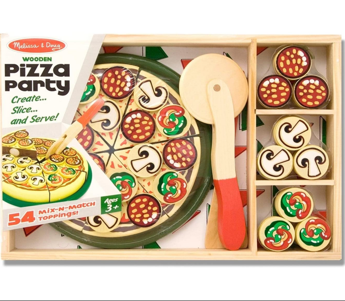 Wooden Pizza Party Set Lulu S Cuts And Toys