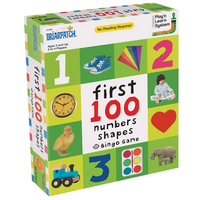 First 100 Number, Colors, Shape Bingo