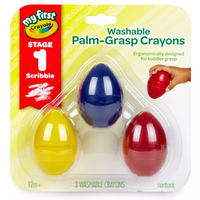 Palm Grip Crayons, Set of 3