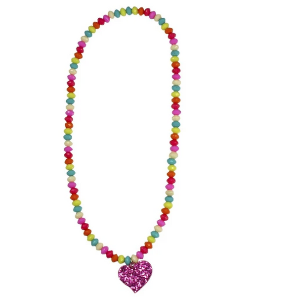 Sparkle Spirited Heart Necklace