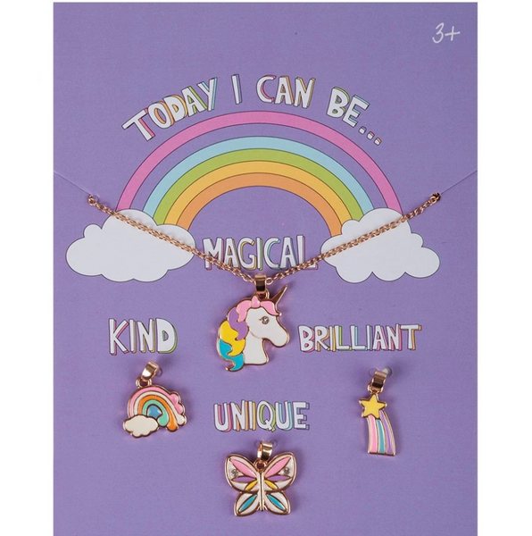 Necklace Charm Set: Today I Can Be Magical, Kind, Brilliant and Unique
