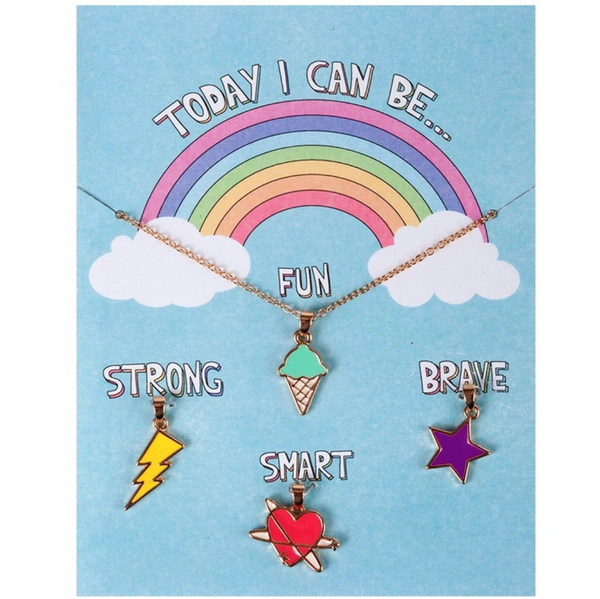 Necklace Charm Set: Today I Can Be Fun, Strong, Smart and Brave