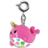 Pink Narwhal Charm