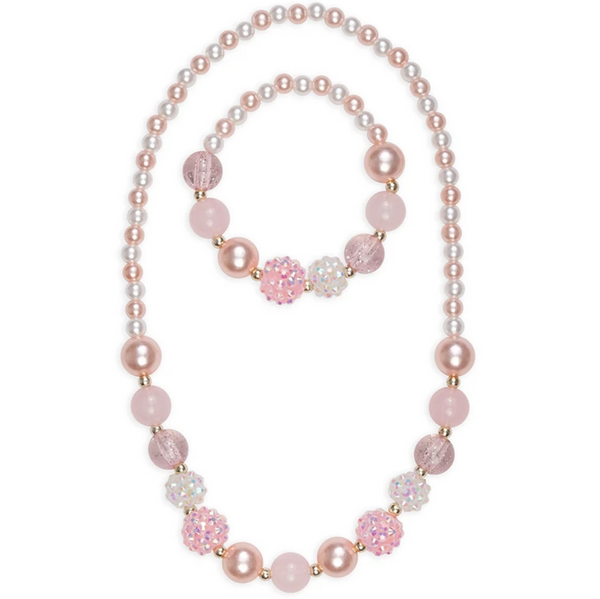Pinky Pearl Bracelet & Necklace Set