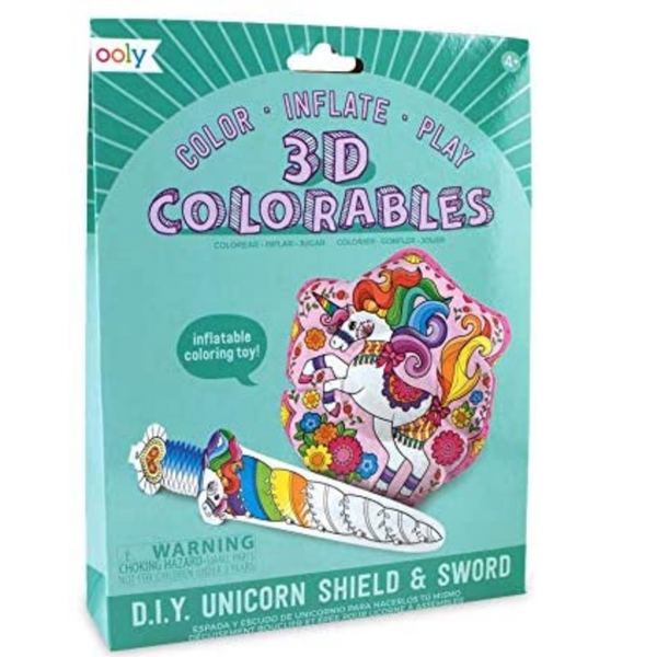3D Colorables: Unicorn Shield & Sword