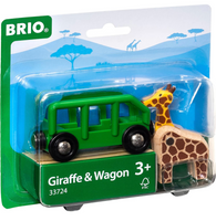 Giraffe and Wagon Train