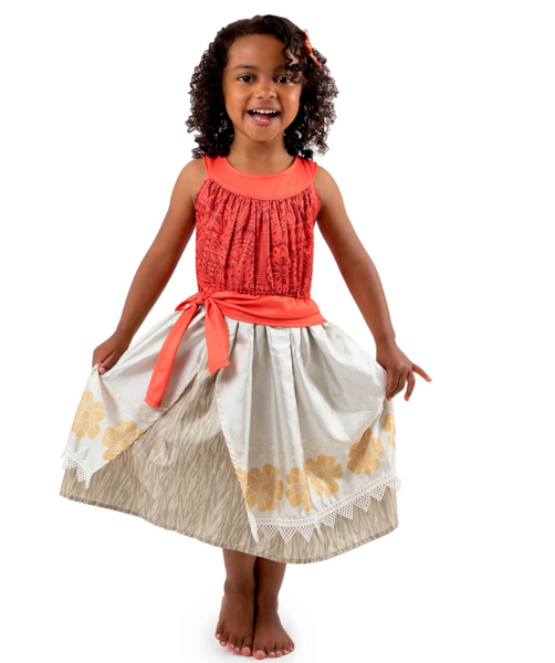 Moana Polynesian Princess Dress, Multiple Sizes