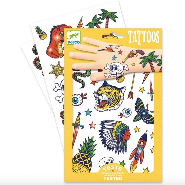Temporary Tattoos: Metalic Bang Bang