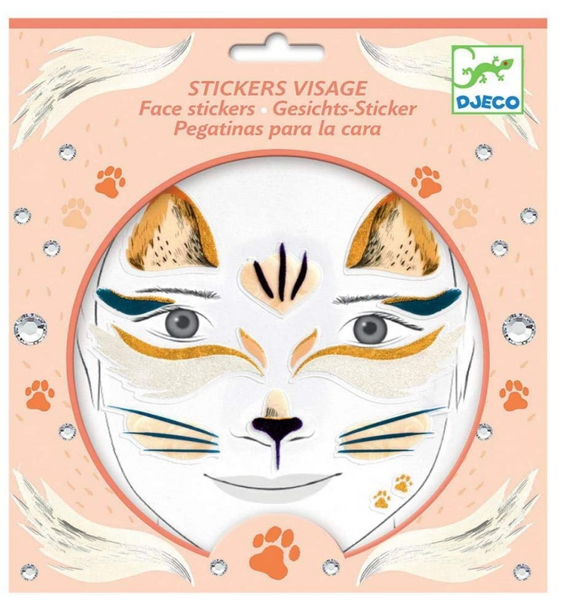 Face Stickers: Cat