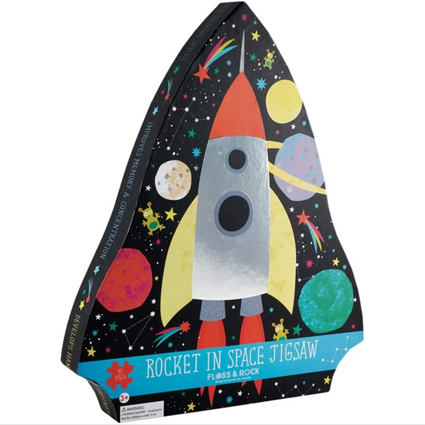 Foil Space Rocket 40pc Puzzle