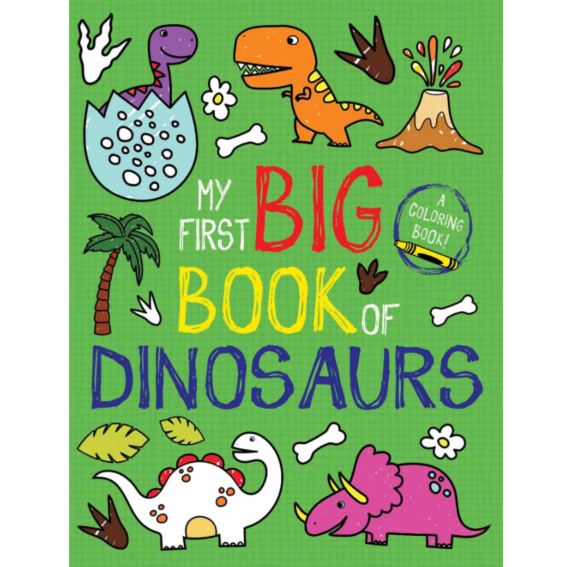 My First Big Book Of Dinosaurs Coloring Book Lulu S Cuts And Toys