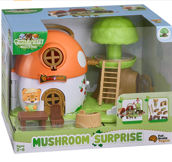 Timber Tots: Mushroom Surprise Doll & Dollhouse