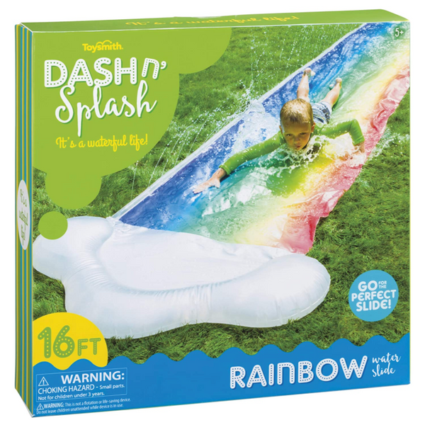 Dash N Splash: Rainbow Inflatable Water Slide