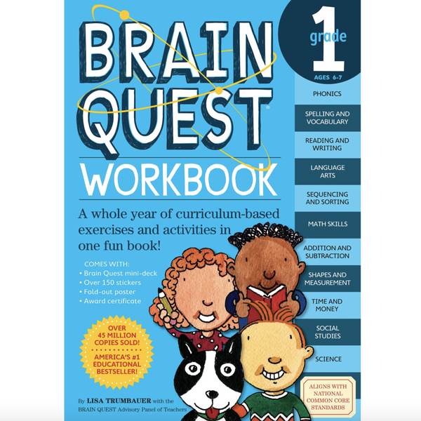 Brainquest Workbook: Grade 1