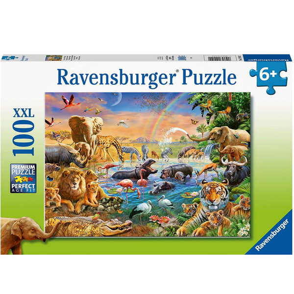 Savannah Jungle Waterhole 100pc Puzzle