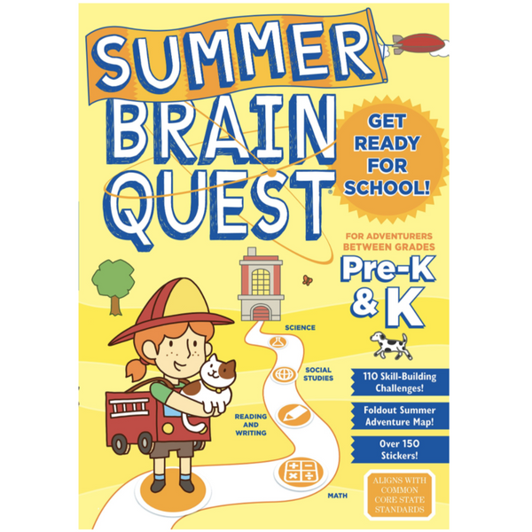 Summer Brainquest Workbook: Between Grades Pre-K & K